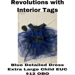Revolution Blue Detailed Dress